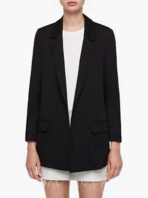 AllSaints Aleida Long Sleeve Blazer, Black