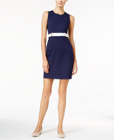 Maison Jules Belted Sheath Dress, Only at Macy's