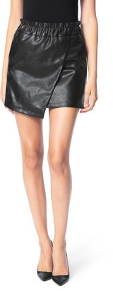 Joe's Jeans Wrap Front Faux Leather Miniskirt