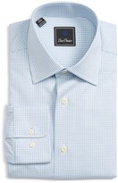 David Donahue Men's Regular Fit Check Dress Shirt
