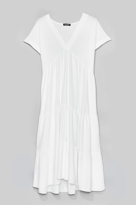 Nasty Gal Womens Can't Smock Us Down Tiered Mini Dress - White