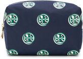 Tory Burch logo print make-up bag