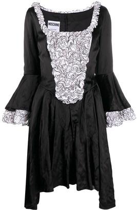 Moschino Flared-Sleeve Mini Dress