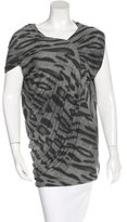 Yigal Azrouel Leopard Print Ruched Top