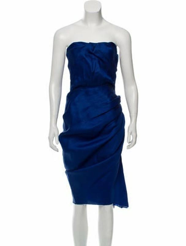 Lanvin Silk Cocktail Dress Royal