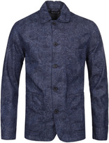 Edwin Union Blue Chambray Printed Denim Overshirt