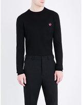 McQ by Alexander McQueen Swallow-logo knitted wool jumper