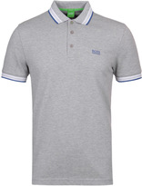 Boss Green Paddy Grey Marl Contrast Trim Polo Shirt