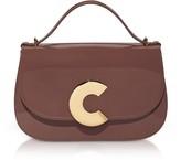 Coccinelle Craquante Patent Maxi Leather Satchel Bag