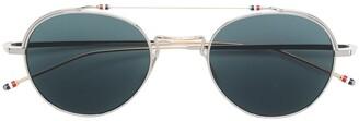 Thom Browne Eyewear Rounded Sunglasses