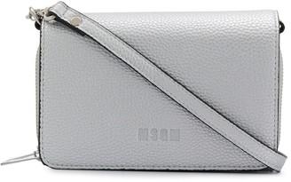 MSGM Logo Leather Shoulder Bag