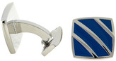 Bugatchi Blue Stripe Enamel Cuff Links