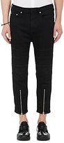 Neil Barrett Men's Straight Moto Jeans-BLACK