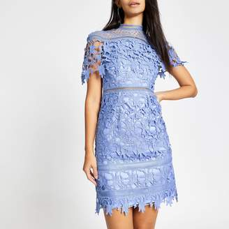River Island Womens Chi Chi London Blue lace Willow dress