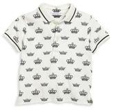 Dolce & Gabbana Baby's Crown-Print Polo Shirt