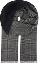 Alexander Mcqueen Prince Of Wales Check Wool Scarf