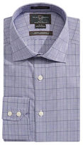 Black Brown 1826 Glen Plaid Fitted Dress Shirt