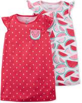 Carter's 2-Pack Watermelon-Print Cotton Nightgowns, Little Girls & Big Girls