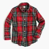 J.Crew Kids' lightweight flannel shirt in red plaid