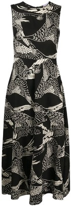 RED Valentino Phoenix Print Dress