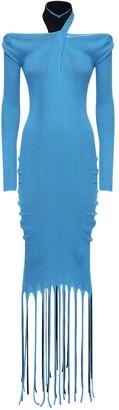 Bottega Veneta Fringed Knit Cotton & Silk Dress