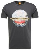 Hugo Boss Tayé Cotton Metallic Stripe T-Shirt M Blue