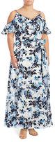 Eliza J Plus Floral Cold-Shoulder Dress