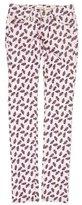Etoile Isabel Marant Floral Print Low-Rise Pants
