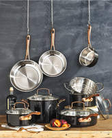 Cuisinart Onyx Black & Rose Gold 12-Pc Stainless Steel Cookware Set, A Macy's Exclusive