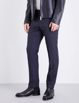 BOSS Tailored-fit tapered wool trousers