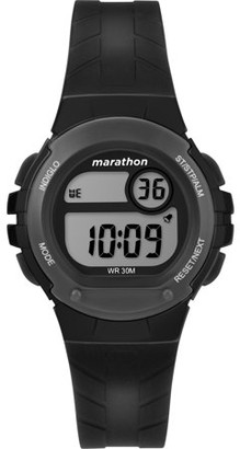 Timex Marathon By Marathon by Women's Digital 32mm Black Watch, Resin Strap
