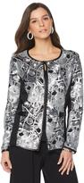 Joan Boyce Long-Sleeve Holiday Sequin Jacket