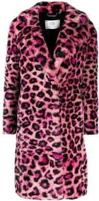 Alberta Ferretti Faux-Fur Leopard Coat