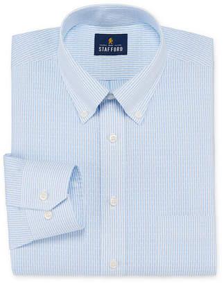 Stafford Mens Non-Iron Cotton Pinpoint Oxford Button Down Collar Dress Shirt