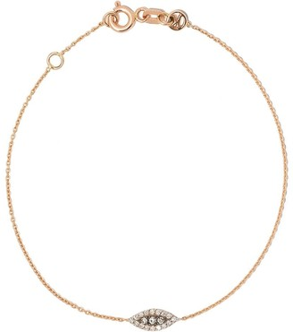 Kismet By Milka 14kt Rose Gold Evil Eye Diamond Bracelet