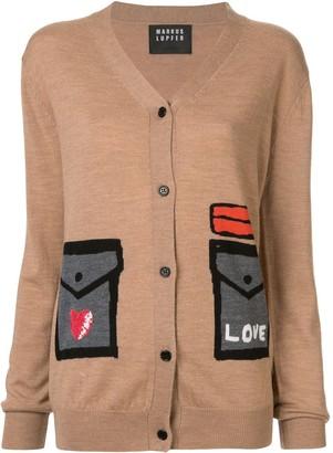 Markus Lupfer stitched pocket cardigan