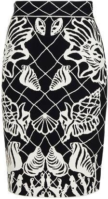 Alexander McQueen Jacquard-knit Pencil Skirt