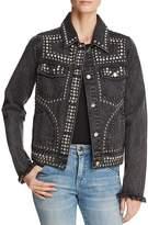 Aqua Embellished Denim Jacket - 100% Exclusive