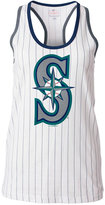 5th & Ocean Women's Seattle Mariners Pinstripe Glitter Tank Top