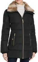 MICHAEL Michael Kors Faux Fur-Trimmed Coat