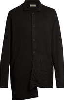 Yohji Yamamoto Spread-collar wool overcoat