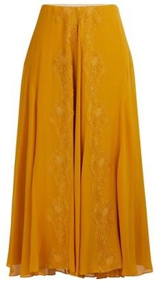 Chloé Silk midi skirt