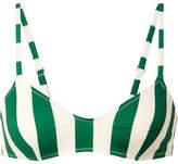 Solid and Striped The Rachel Striped Bikini Top - Emerald