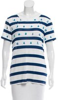 Prabal Gurung Nautical Printed Short Sleeve Top w/ Tags