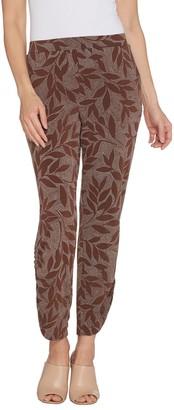 Susan Graver Regular Printed Liquid Knit Pull-On Ankle Pants