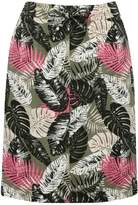 M&Co Petite palm leaf utility skirt