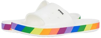 Crocs Crocband III Rainbow Block Slide (White/Multi) Slide Shoes