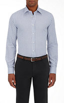 Luciano Barbera MEN'S CHECKED TWILL SHIRT