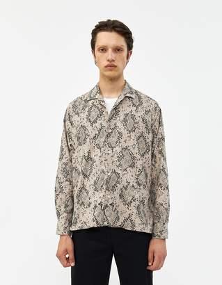 Gitman Brothers Polar Snake Print Shirt in Snake Print