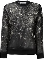 Givenchy sheer constellation pattern sweatshirt - women - Silk - 38